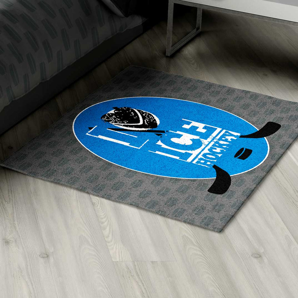 Ice Hockey Area Rug Personalized - 2cooldesigns