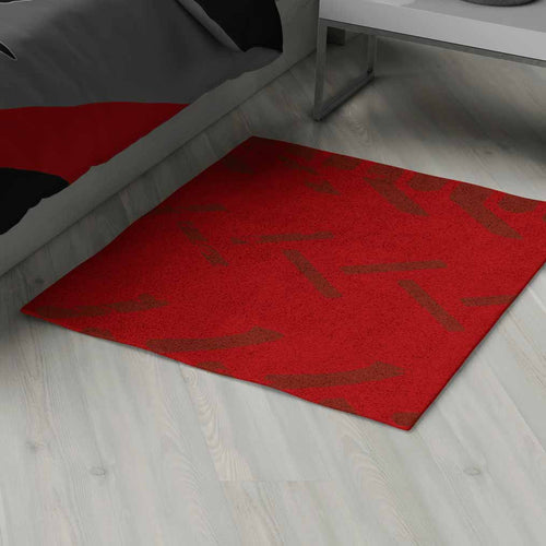 Motocross Area Rug Personalized, Red