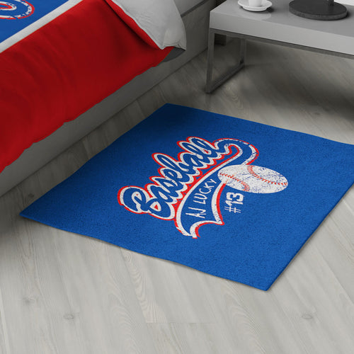 Baseball Area Rug Personalized
