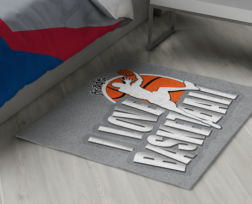 Basketball Area Rug Personalized
