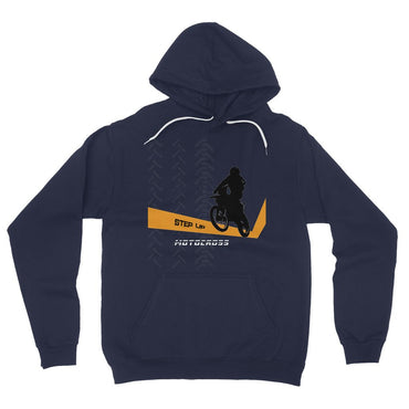 Motocross Orange and Black California Fleece Pullover Hoodie - 2cooldesigns