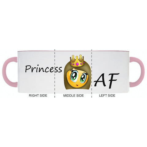PRINCESS 👸🏻 AF Accent Coffee Mug - 2cooldesigns