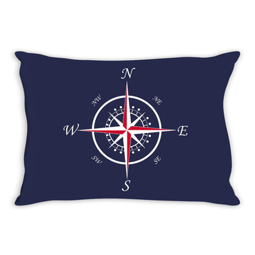 Nautical Compass Throw Pillow Navy - 2cooldesigns