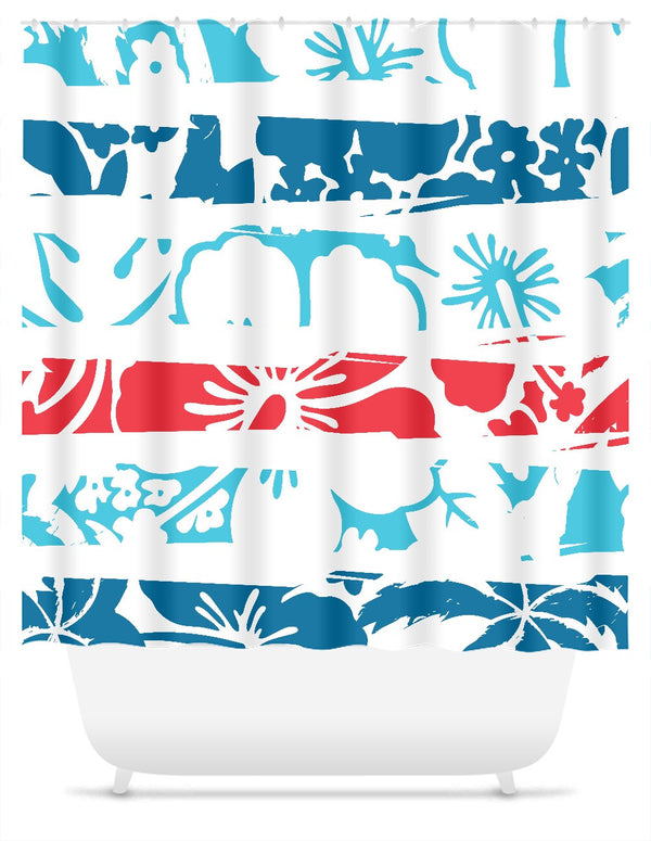 Tropical Frames Pattern - Shower Curtain