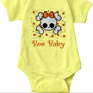Boo Baby Onsies, Skull and Bones for Babies - 2cooldesigns