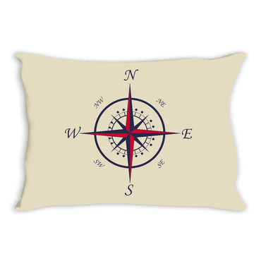 Nautical Compass Throw Pillow Khaki - 2cooldesigns
