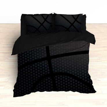 Black Basketball Bedding - 2cooldesigns