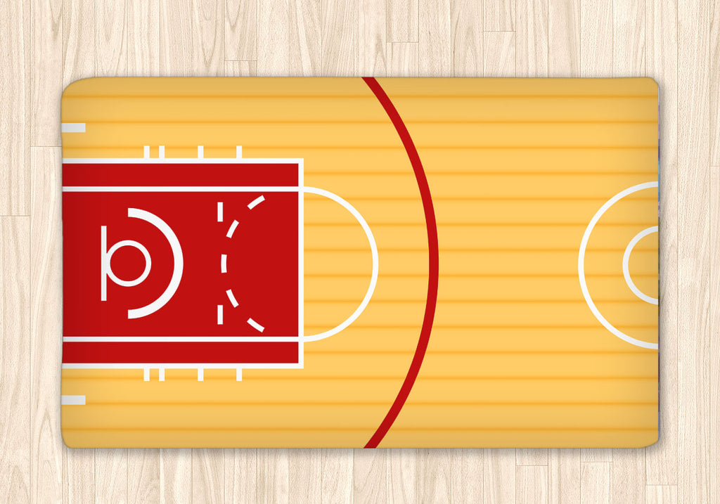 Custom Basketball Court Fuzzy Area Rug, Personalized - 2cooldesigns