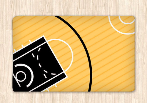 Custom Basketball Fuzzy Area Rug, Personalized - 2cooldesigns