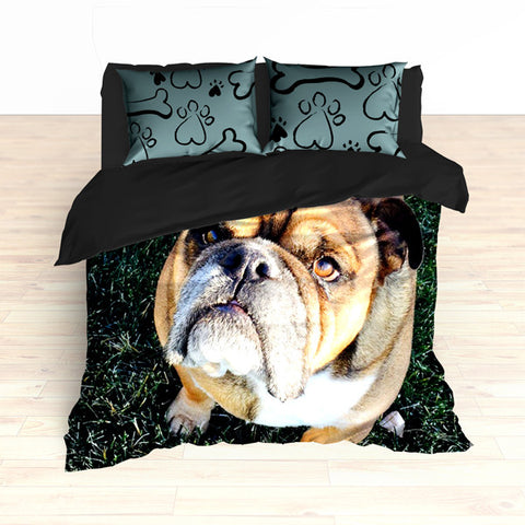 Personalized Photo Memories Comforter or Duvet, Dog Photo Bedding Set - 2cooldesigns