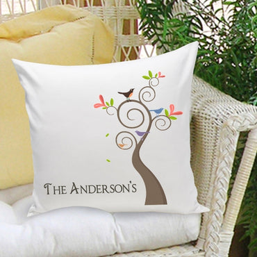 16x16 Family Name Throw Pillows - Family Tree - 2cooldesigns