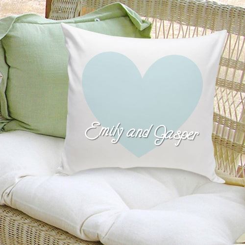 16x16 Throw Pillow Family - Our Names - 2cooldesigns
