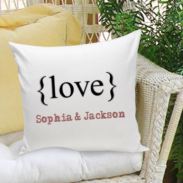16x16 Throw Pillow Family - Typeset Love - 2cooldesigns
