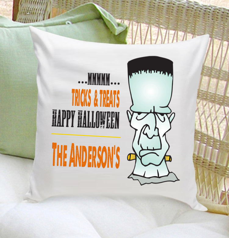 Personalized Halloween Throw Pillows - Frank - 2cooldesigns