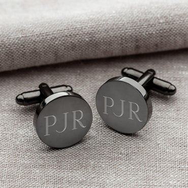Gunmetal Round Cufflinks - 2cooldesigns