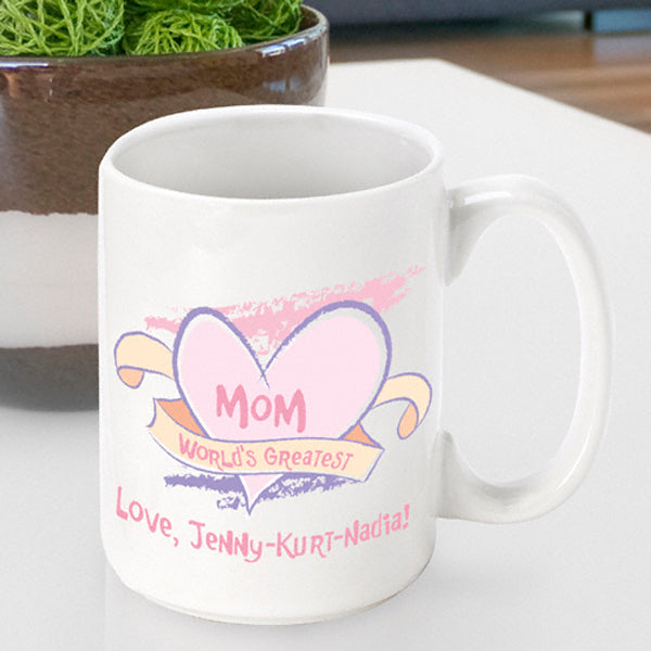 Mother's Day Coffee Mug - World's Greatest Mom - 2cooldesigns