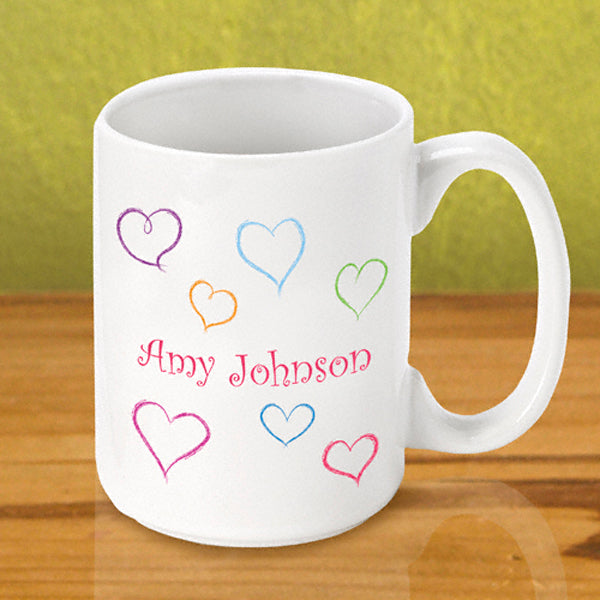 Gleeful Coffee Mug - Heart - 2cooldesigns