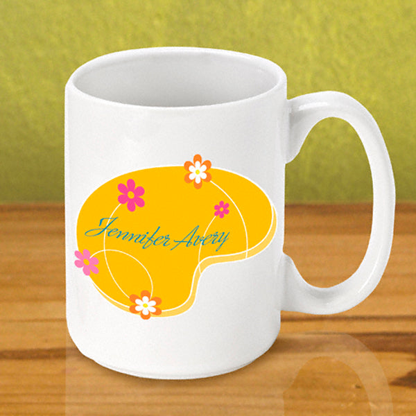 Gleeful Coffee Mug - Orange - 2cooldesigns