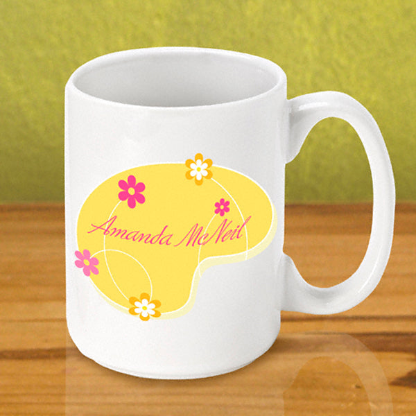 Gleeful Coffee Mug - Yellow - 2cooldesigns