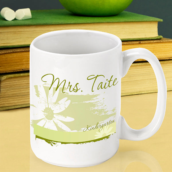 Teacher Coffee Mug - Delicate Daisy - 2cooldesigns