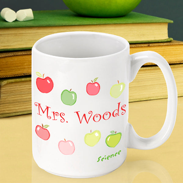 Teacher Coffee Mug - Happy Apples - 2cooldesigns