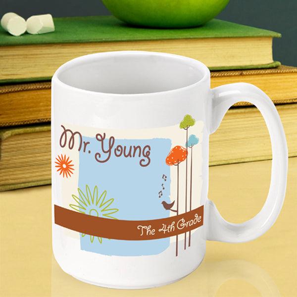 Teacher Coffee Mug - Nature's Song - 2cooldesigns