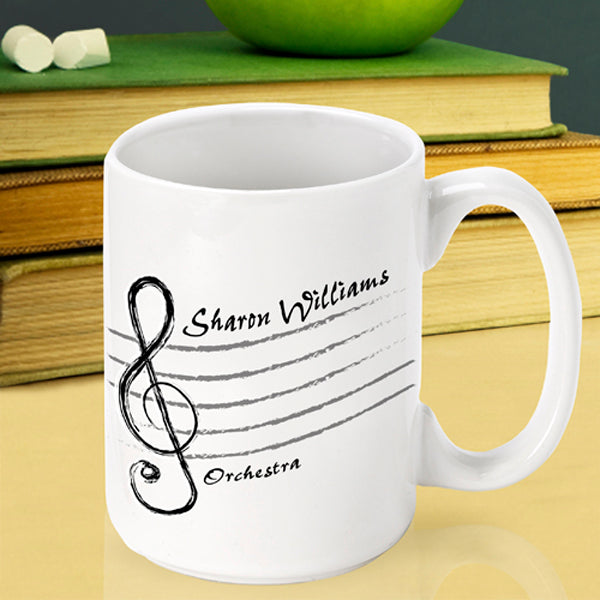 Teacher Coffee Mug - Treble Cleff - 2cooldesigns