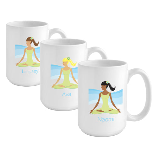 Go-Girl Coffee Mug - Meditate - 2cooldesigns