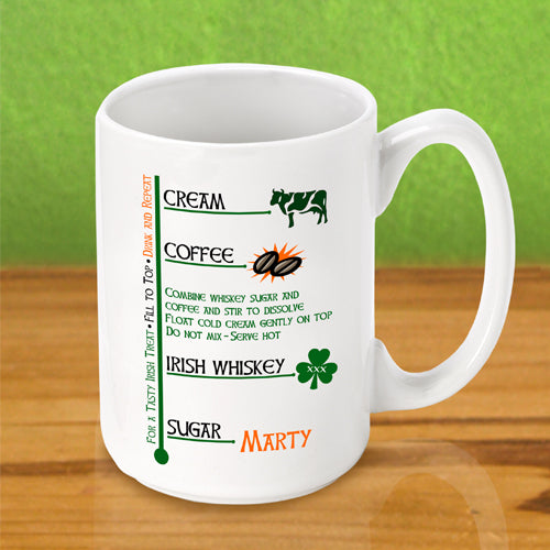 Irish Coffee Mug - Irish Coffee - 2cooldesigns