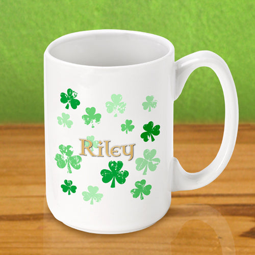 Irish Coffee Mug - Raining Clovers - 2cooldesigns