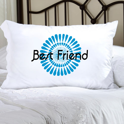 Felicity Bouncy Bouquet Pillow Case - Blue BB2