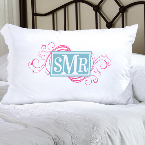 Felicity Cheerful Monogram Pillow Case - CM 1 - 2cooldesigns