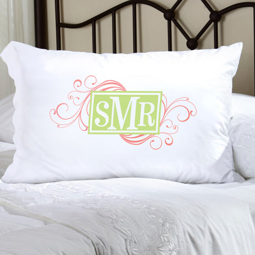 Felicity Cheerful Monogram Pillow Case - CM 3 - 2cooldesigns