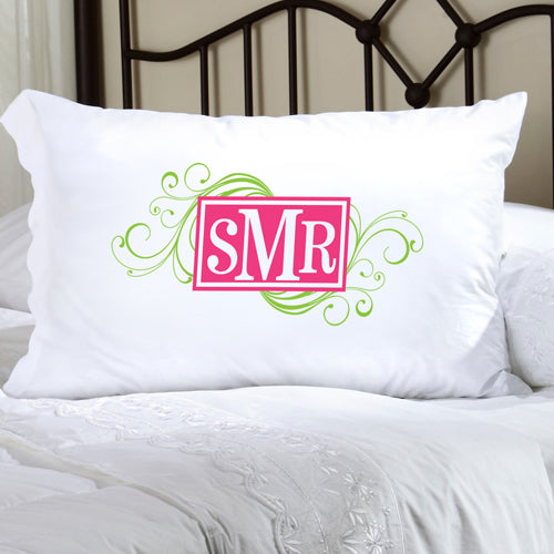 Felicity Cheerful Monogram Pillow Case - CM 7 - 2cooldesigns