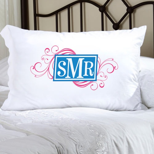 Felicity Cheerful Monogram Pillow Case - CM 8 - 2cooldesigns