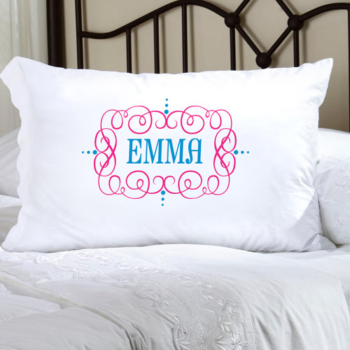 Felicity Glamour Girl Pillow Case - Turquoise/Pink - 2cooldesigns