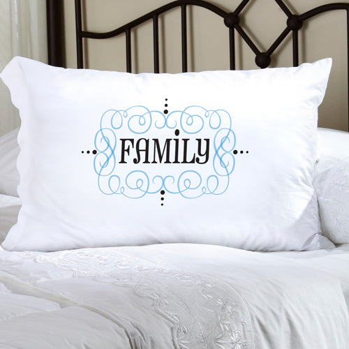Felicity Glamour Girl Pillow Case - Light Blue/Black - 2cooldesigns