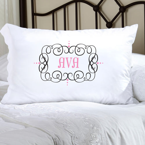 Felicity Glamour Girl Pillow Case - Black/Pink - 2cooldesigns