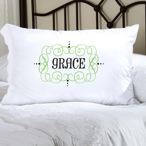 Felicity Glamour Girl Pillow Case - Grey/Black - 2cooldesigns