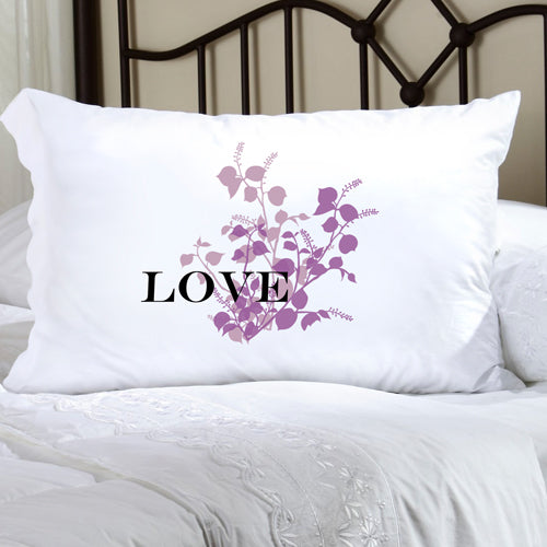 Felicity Graceful Nature Pillow Case - Purple - 2cooldesigns