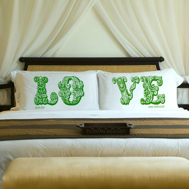 Couples Pillow Case Set - Love - 2cooldesigns