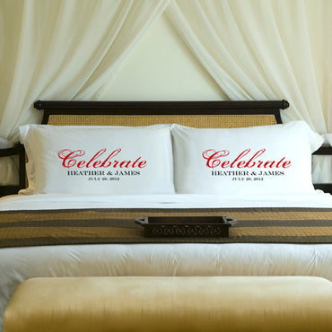 Celebration Couples Pillow Case Set - 2cooldesigns