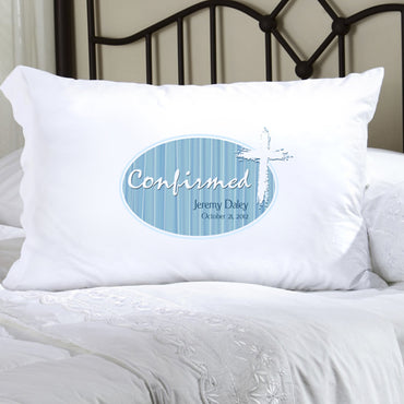 Confirmation Pillow Case - Celtic Blessings Blue - 2cooldesigns