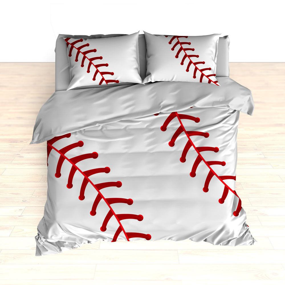 Baseball Stitches Bedding, Personalized Comforter or Duvet - 2cooldesigns