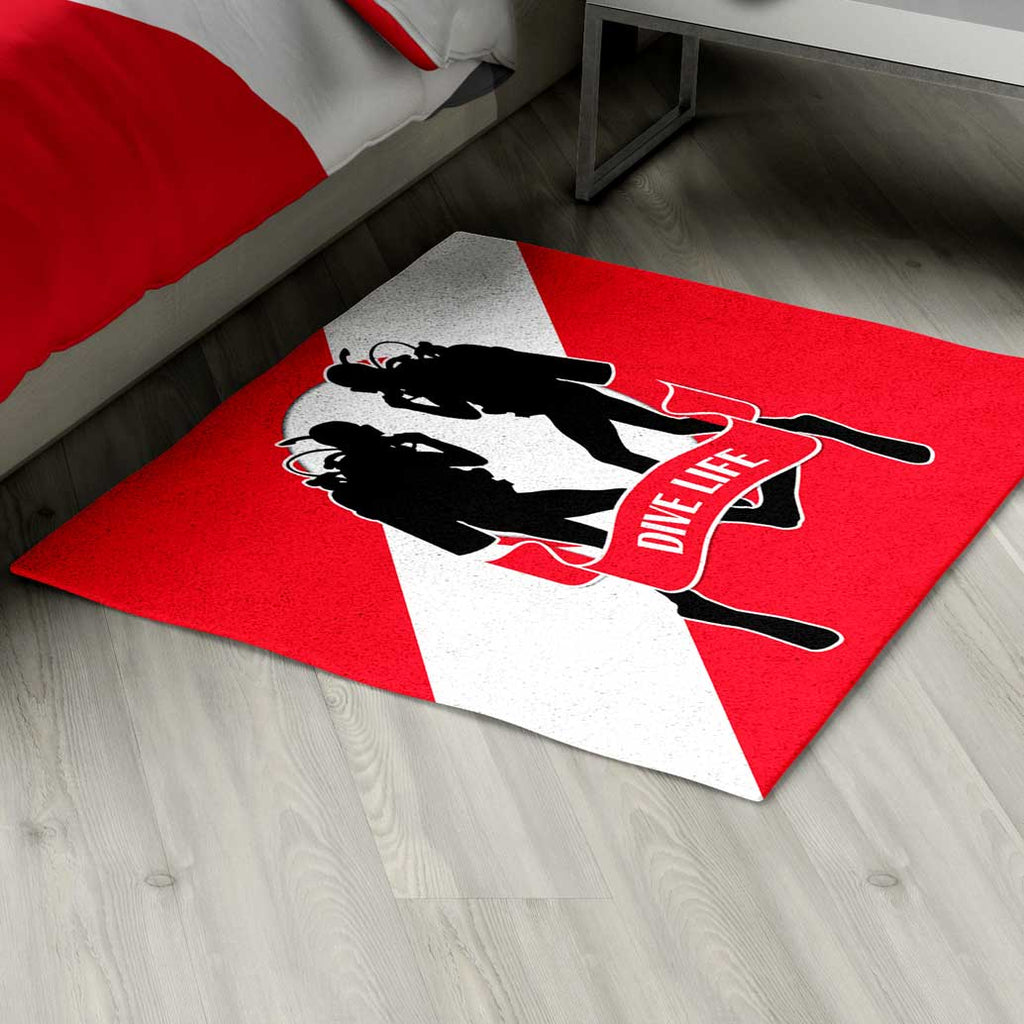 Scuba Diving Area Rug Personalized - 2cooldesigns