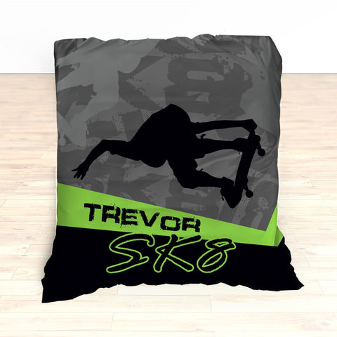 Skateboarding Bedding, Personalized Skateboard Bedroom Decor, Teen, Kids, Nursery - 2cooldesigns