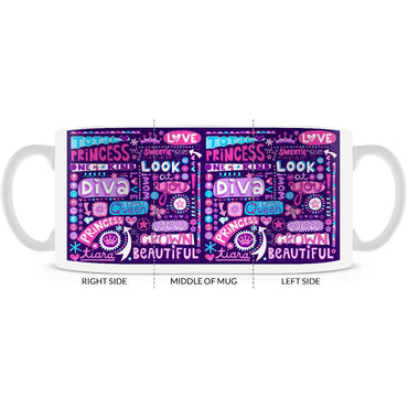 Valentine, Princess, Diva, Love Coffee Mug 11oz or 15oz - 2cooldesigns