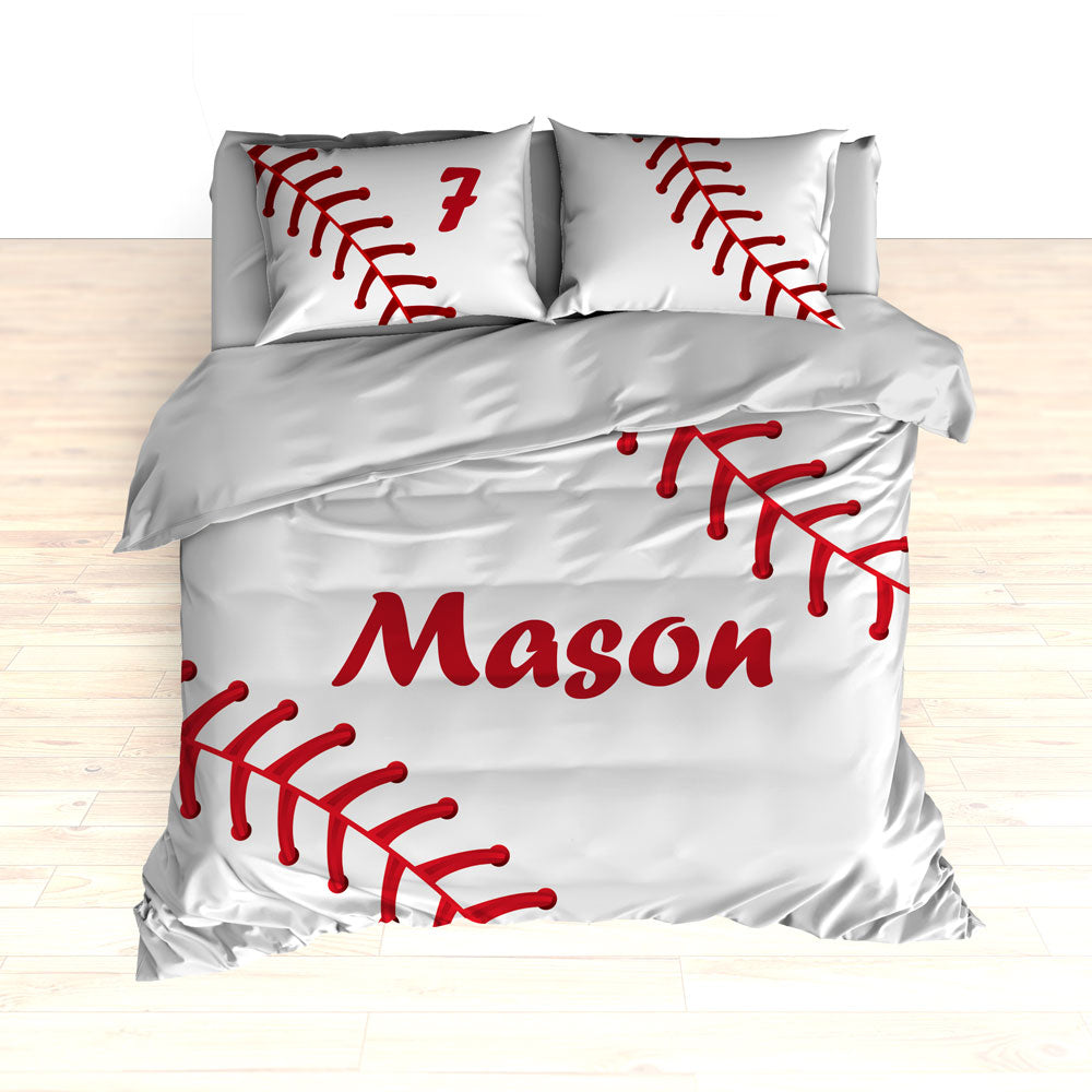 Personalized Baseball Stitches Bedding, Comforter or Duvet - 2cooldesigns