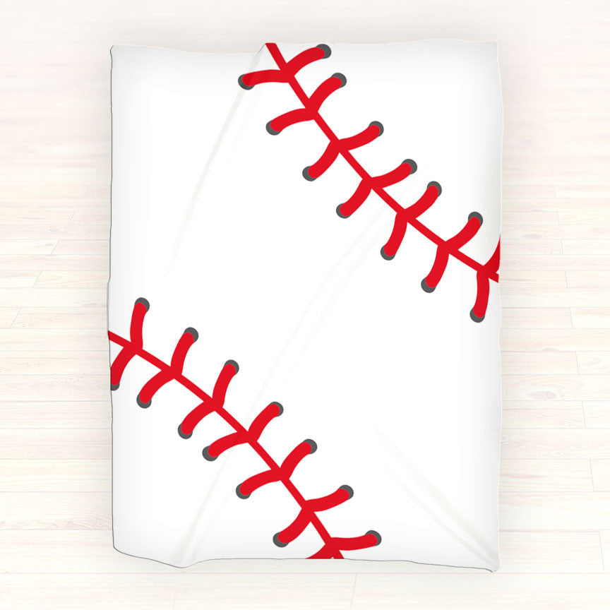 Baseball Personalized Fleece Blanket Throw - Personalized Baseball Blanket - Gift Idea