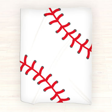 Baseball Personalized Fleece Blanket Throw - Personalized Baseball Blanket - Gift Idea - 2cooldesigns